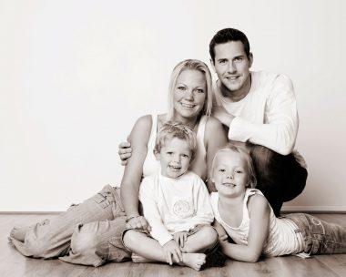 Family in black & white