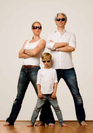 Family in sunglasses